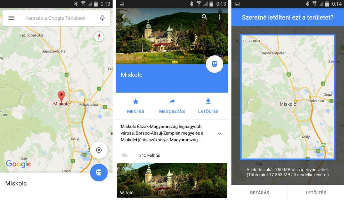 App Ajanlo Google Terkep Mar Mobilnet Nelkul Is Excom Computer