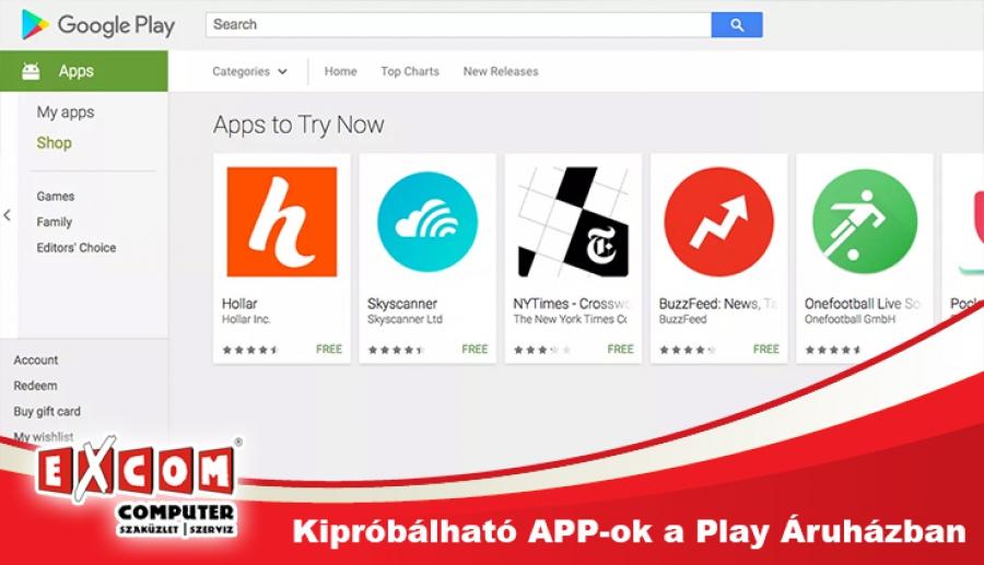 e4f5b56958 Végre egy igazán hasznos újítás a Google Play Áruházban. Instant Apps néven a  Google alkalmazásboltjában már elérhetőek ...
