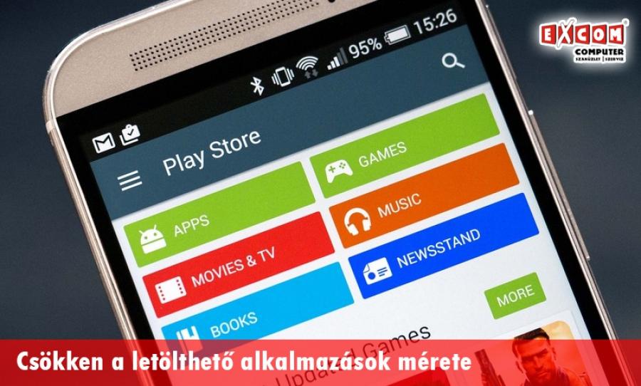 263476131f Csökken a Google Play Áruházban elérhető szoftverek mérete - Excom ...