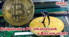 Egekben a videókártyák ára a Bitcoin miatt