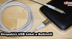 Strapabíró USB kábel a mobilokhoz