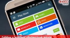 Csökken a Google Play Áruházban elérhető szoftverek mérete